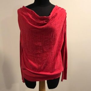Moth from Anthropologie Red Cowl sweater